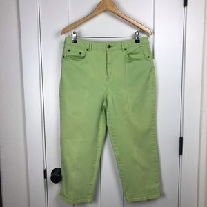 Talbots 12 lime cropped jeans